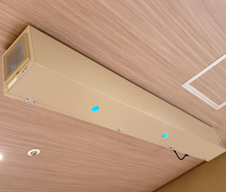 循環式空気除菌装置の設置